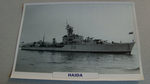 1942 Haida Canadian Destroyer warship framed picture